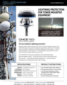 EMP Advanced Lightning Suppression for Cell Towers