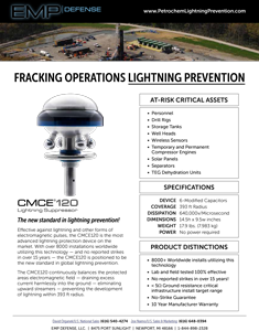 EMP Advanced Lightning Suppression for Fracking Operations