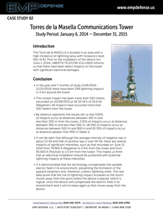 EMP Advanced Lightning Suppression Torres de la Masella Telecom Tower Case Study