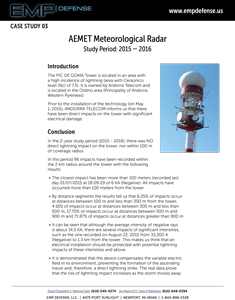 EMP Advanced Lightning Suppression AEMET Weather Radar Case Study