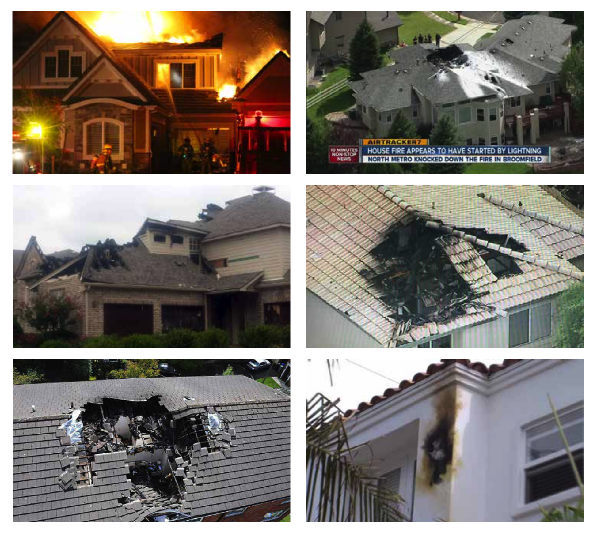Residential Lightning Strike Damage